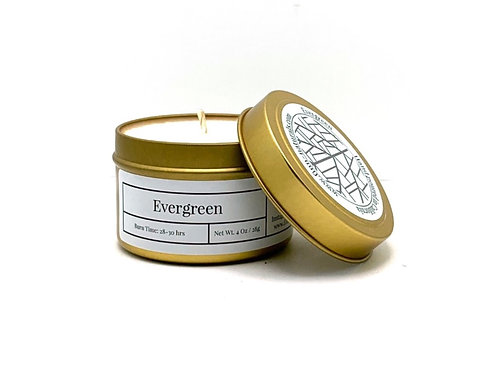 Evergreen Scented Soy Travel Candle