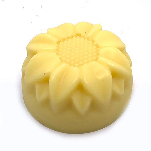 Scented or Unscented Solid Lotion Bar Sunflower Shaped