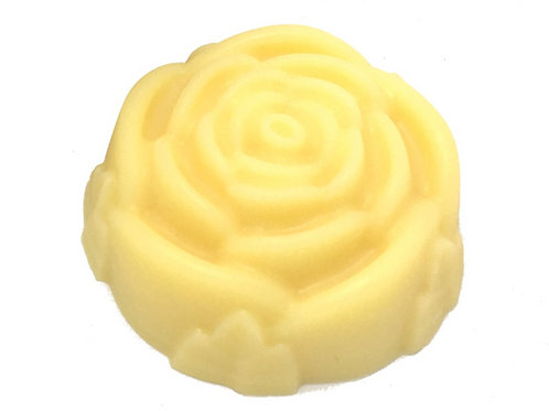 Scented or Unscented Solid Lotion Bar Rose Shaped