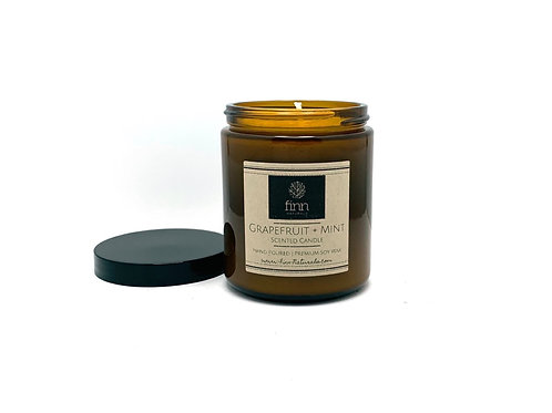 Citrus + Mint Scented Soy Candle
