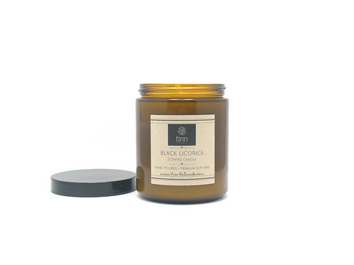 Black Licorice Scented Soy Candle