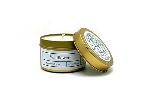 Wildflowers Scented Soy Travel Candle