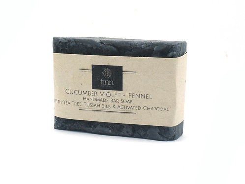 Cucumber, Violet & Fennel Bar Soap with Activated Charcoal