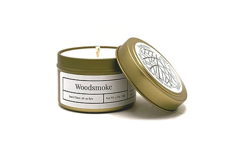 Woodsmoke Scented Soy Travel Candle