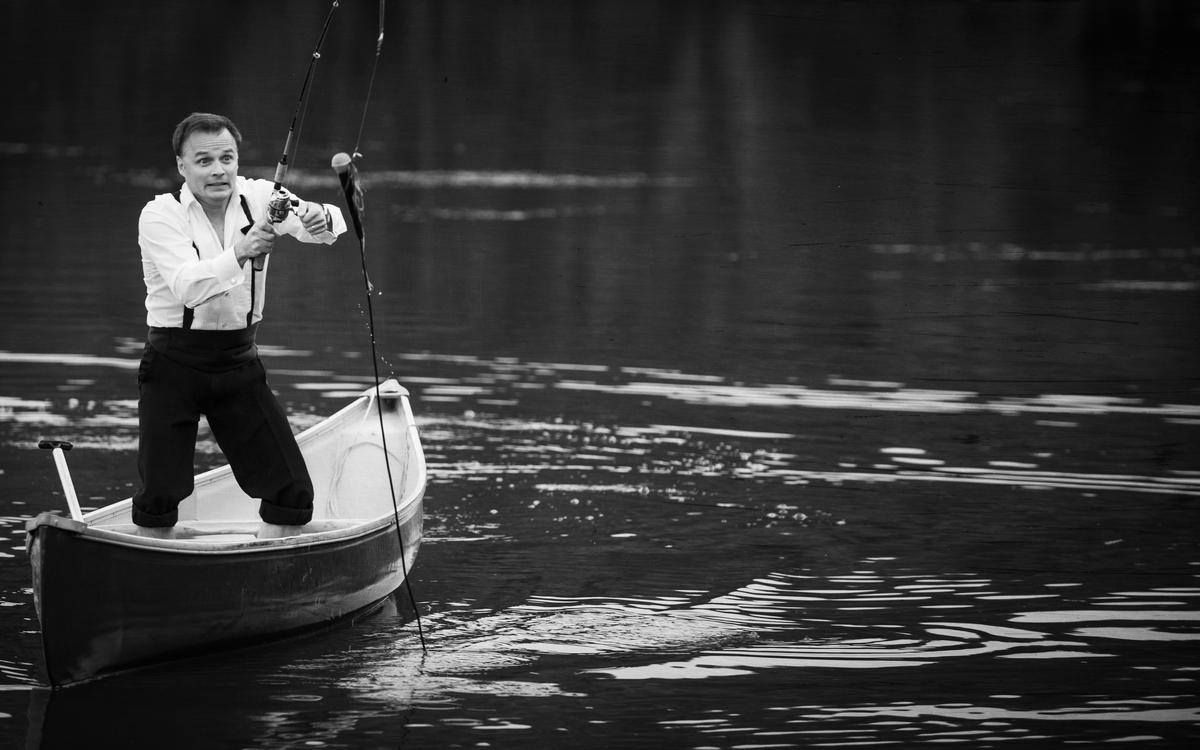 Gino à la pêche