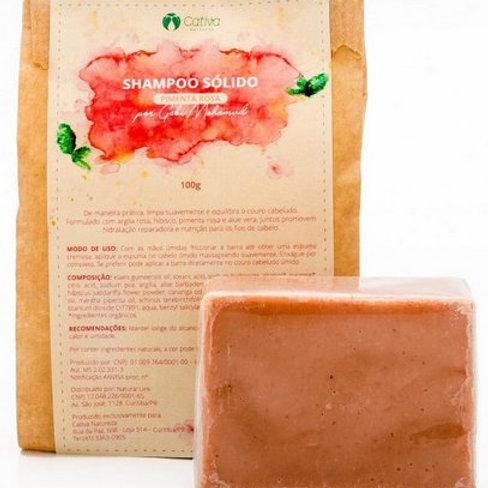 Shampoo Sólido Pimenta Rosa 100g Cativa