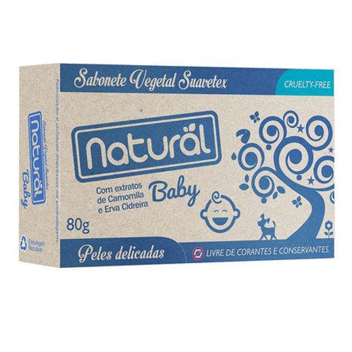 Sabonete Natural Baby com Extratos de Camomila e Erva Cidreira 80g Natural