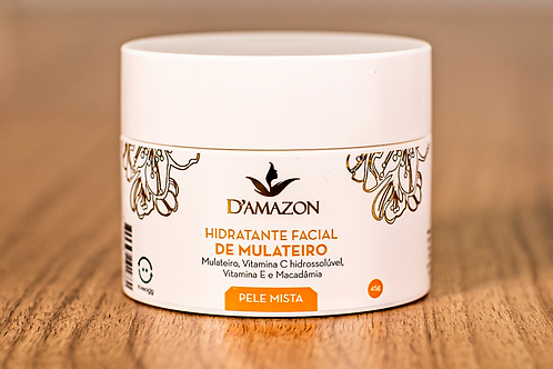Hidratante Facial De Mulateiro Para Pele Mista D`amazon 45g