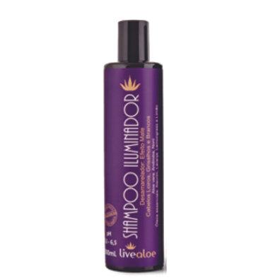 Shampoo Iluminador Matizante Desmineralizador 300ml Live Aloe