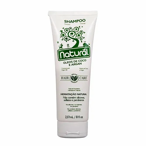Shampoo Óleo de Coco & Argan Orgânico Natural