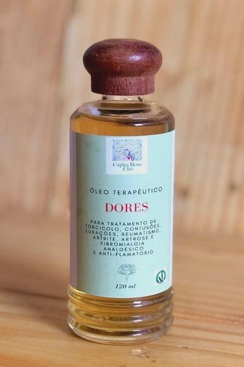 Óleo Terapêutico para Dores 120ml Capim Rosa Chá