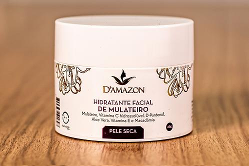Hidratante Facial De Mulateiro Para Pele Seca D`amazon 45g