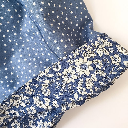 Blue Stars/ Blue Floral Reversible Skirt