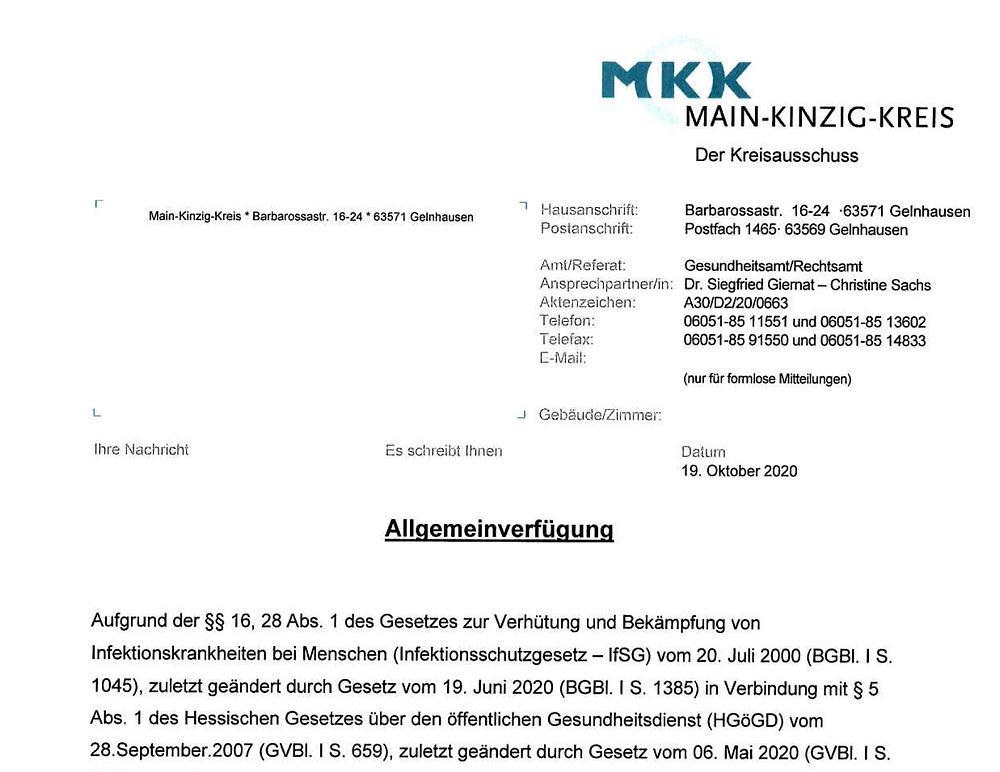 PDF Allgemeinverfügung MKK Kontaktbeschränkung