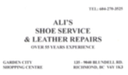 Ali Shoe Service. Shoe Service