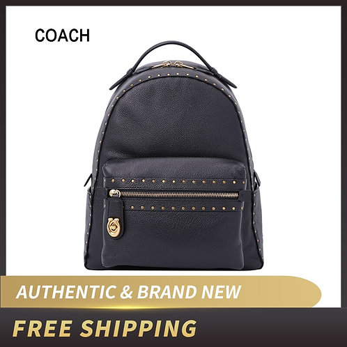 Coach Campus Pebble Leather Backpack With Rivets 31016