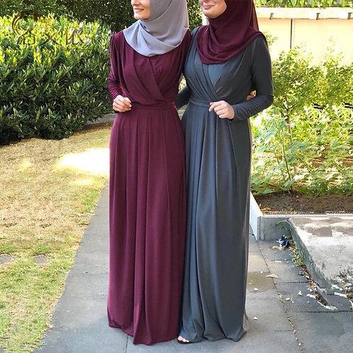 Eid Mubarak Kaftan Dubai Abaya Turkey Muslim Fashion Hijab Dress Islam Abayas