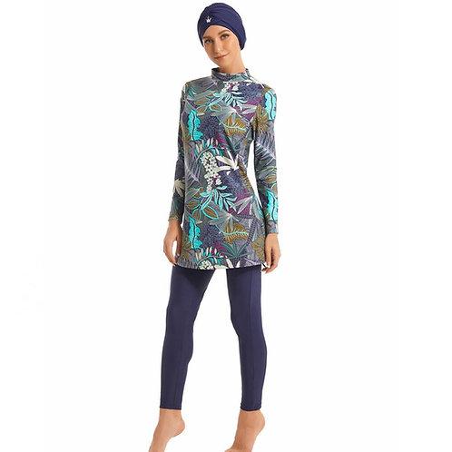 Modest Muslim Swimwear Hajib Islamic Swimsuit for Women Full Cover Burkinis