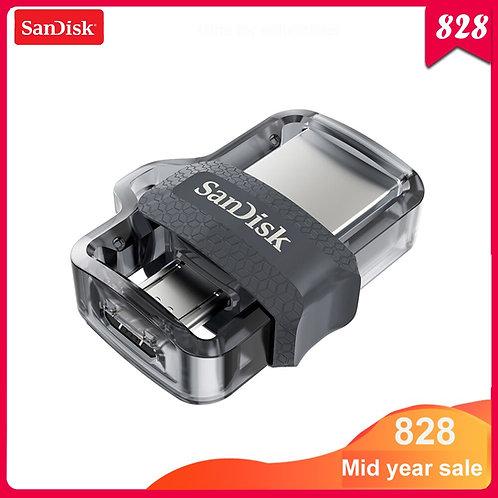 Sandisk USB Flash Drive 128GB 64GB 32GB 16GB Dual OTG Pen Drive Micro USB3.0