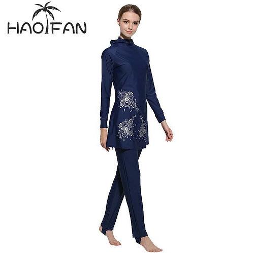 Floral Print Islamic Swimwear Women Girls Muslim Swimwear Burkinis