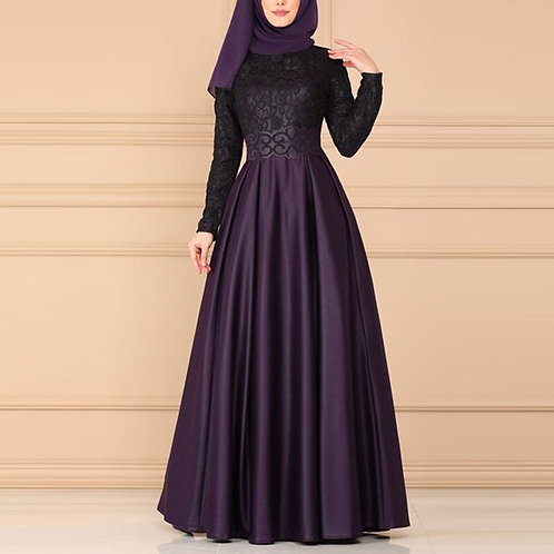 Lace Vintage Arabic Abaya Dubai Muslim Dress Abayas for Women Ropa Mujer 2020