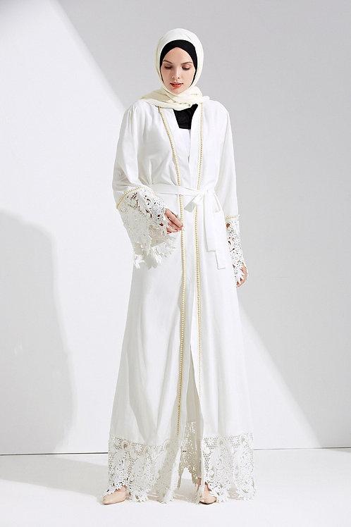 Dubai Abaya Muslim Dress Solid Plus Size Robe Knitting Dubai Abaya Dresses