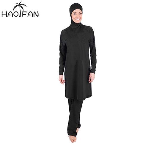 Modest Swimsuits Plus Size Women Burkini Beachwear Islamic Swimwear