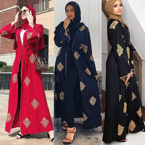 Dubai Open Abaya Kimono Muslim Hijab Dress Kaftan Abayas Islamic Clothing