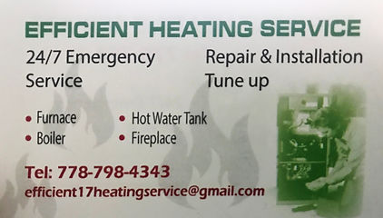 Efficient Heating Service, Heating Service Repair and Installation