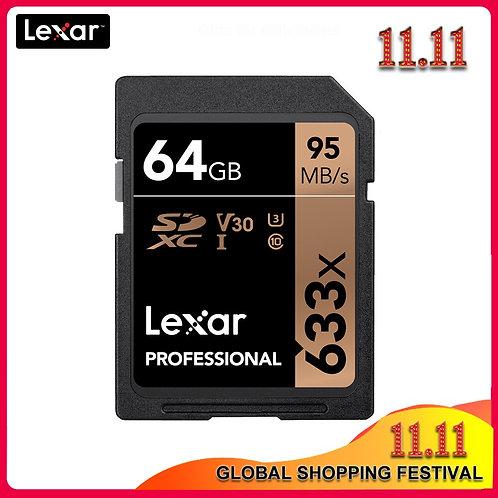Original Lexar 633x SD Card 16GB 32GB  64GB Class 10 SDHC SDXC Memory Card