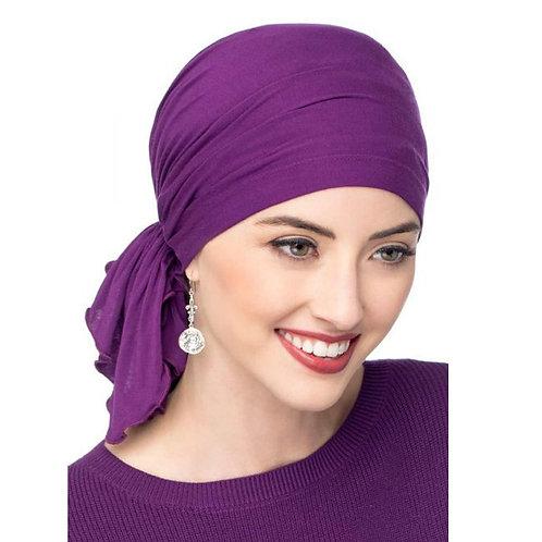Muslim Bamboo Cotton Pre-Tied Scarf Chemo Bonnet Caps Women Turban Hat Headwear