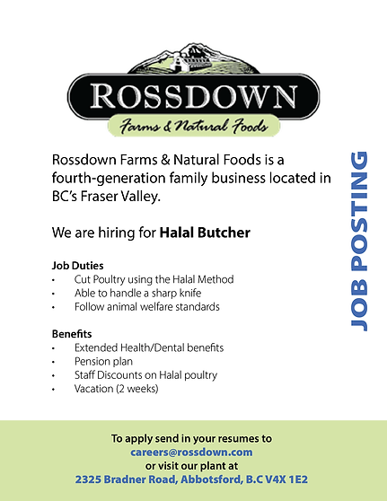 Rossdown Farms and Natural Foods - Halal
