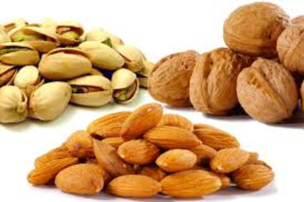 Almonds, Walnuts and Pistachios