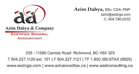 Azim Dahya, Certified General Accountant