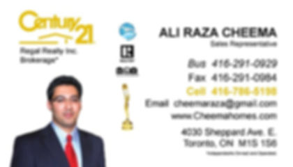 Ali Raza Cheema, Century 21, Real Estate Agent