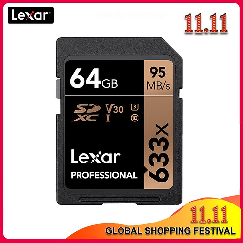 Original Lexar 633x SD Card 16GB 32GB  64GB Class 10 SDHC SDXC Memory Card