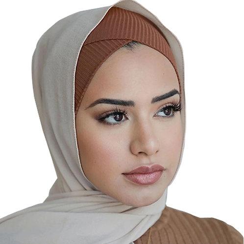 2020 Women Stretch Cap Cotton Inner Hijab Caps Muslim Underscarf Headscarf