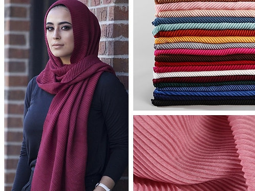 2020 Women Plain Cotton Scarf Head Hijab Wrap Solid Full Cover-Up Shawls