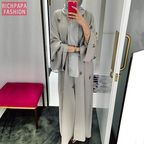 Abaya Femme Kimono Kaftan Robe Dubai Islam Muslim Hijab Dress Abayas Caftan