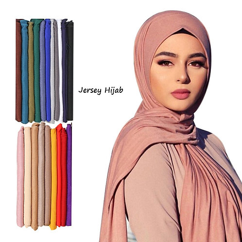 Fashion Modal Cotton Jersey Hijab Scarf Long Muslim Shawl Plain Soft