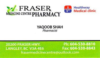 FRASER MEDICINE CENTRE PHARMACY, Yaqoob Shah