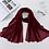 Thumbnail: 2020 Muslim Women Crinkle Hijab Scarf Soft Solid Cotton Head Scarves Shawls