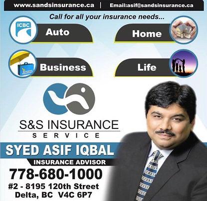 Syed Asif Iqbal, Insurance Advisor