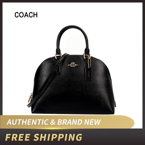 Authentic Original & Brand New COACH Crossgrain Patent Leather Satchel 33404