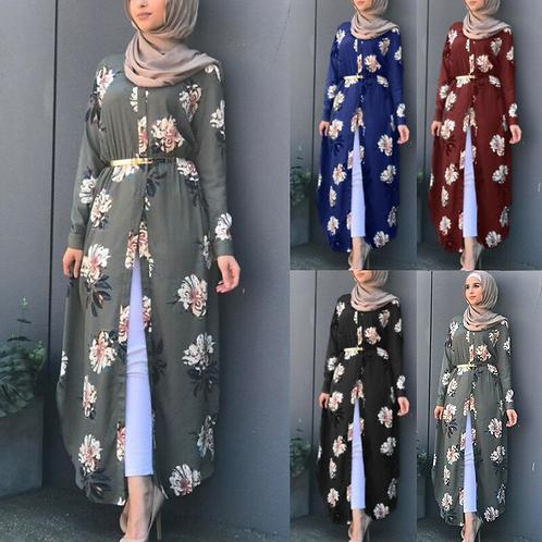 Embroidered Dubai Abaya Hijab Evening Dress for Women Islamic Clothing Djellaba