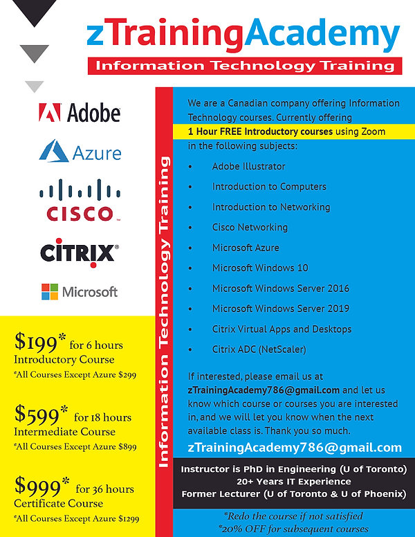 zTrainingAcademy - IT Training 2020 copy