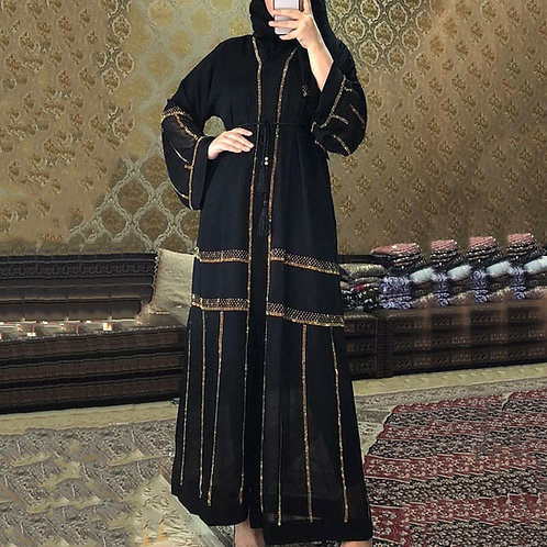 Black Abaya Dubai Turkey Muslim Hijab Dress 2020 Caftan Marocain Arabe