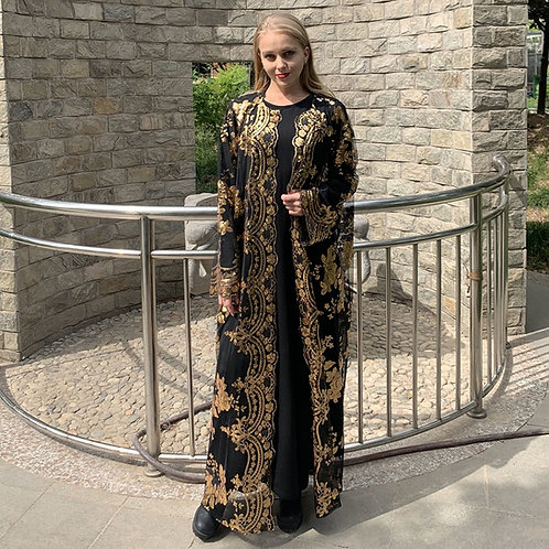 Ramadan Eid Mubarak Abaya Turkey Kimono Cardigan Hijab Muslim Dress