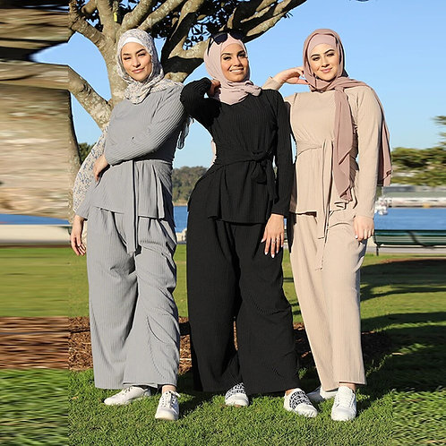Abaya Dubai Turkey Muslim Fashion Sets Abayas for Women American European Islam
