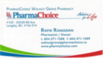 FRASER MEDICINE CENTRE PHARMACY, Alia Khan